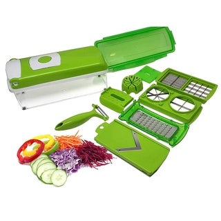 As Seen On TV Multi Blade Mandoline Handheld Nicer Dicer Plus12 pc Set With Slicer Attachments