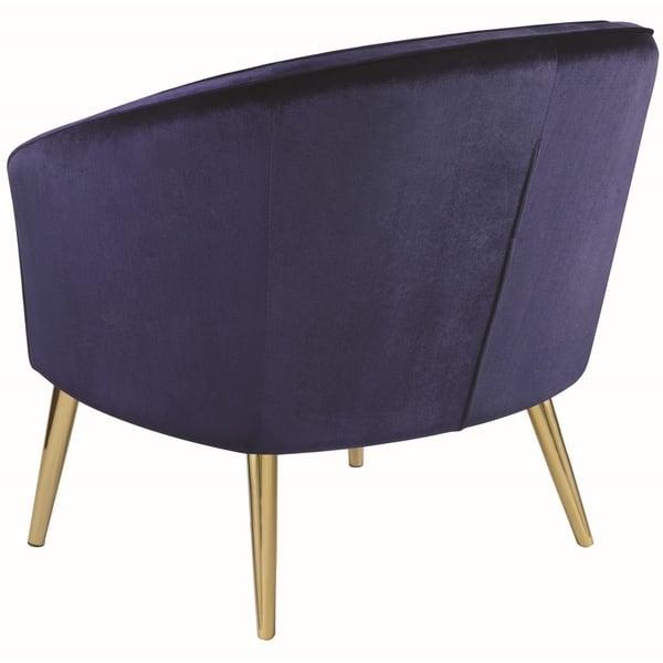Shop Blue Velvet/Brass Contemporary Living Room Accent Chair ...