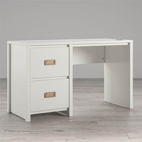 Little Seeds Monarch Hill Haven White Single Pedestal Kids' Desk