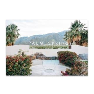 Noir Gallery Palm Springs Sign California Metal Wall Art Print