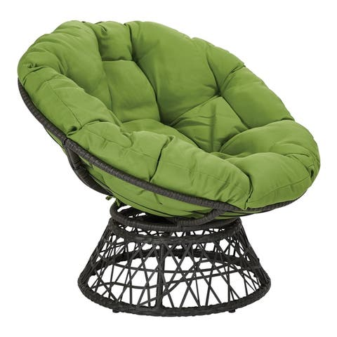The Curated Nomad Avoca Woven Wicker Papasan Chair