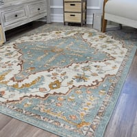 Skylar Antigua Blue Soft Touch Tranisitional Vintage Area Rug