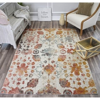 Bend Painted Sand Ivory Soft Touch Transitional Vintage Area Rug
