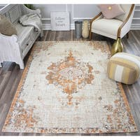 Bend Patina Cream Indoor/Outdoor Transitional Vintage Area Rug