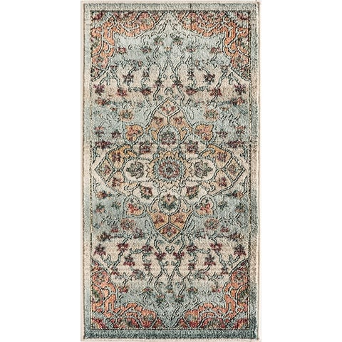 Sela Eclipse Blue SoftTouch High Low Tranisitional Vintage Area Rug
