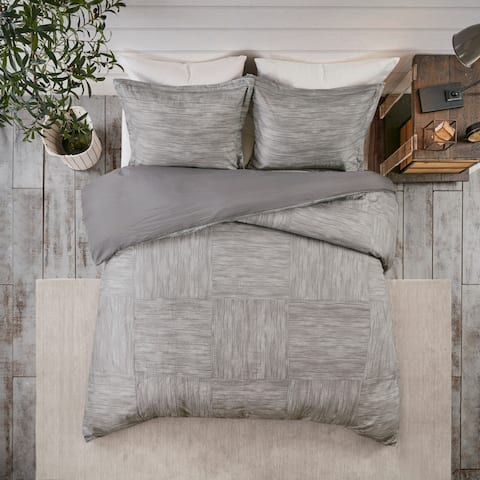 Madison Park Clayton Printed Seersucker Duvet Cover Set