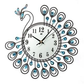 Peacock Shape Living Room Clock European Style Quartz Movement Wall Clock