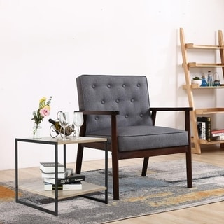 Iron Two-Tier Sofa Accent Table Living Room End SIde Table