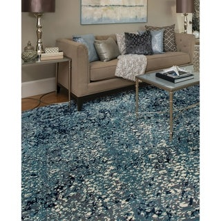Karelin Inheritance Medium Blue Area Rug