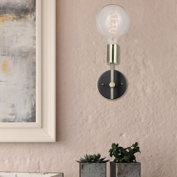 Porch & Den Chrysler 1-light Plug-in or Hardwire Wall Sconce. Opens flyout.