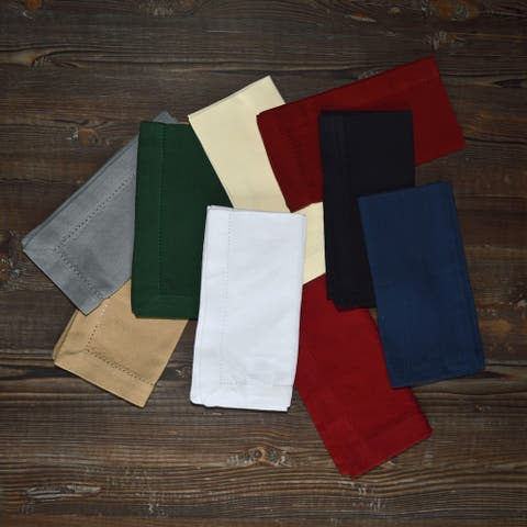Dunroven House Hemstitched Cotton Napkins Set of 4
