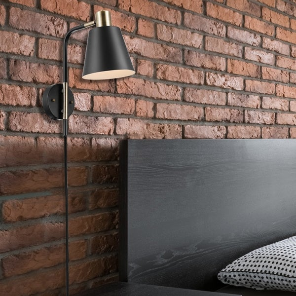 Porch & Den Chrisben 1-light Plug-in or Hardwire Wall Sconce. Opens flyout.