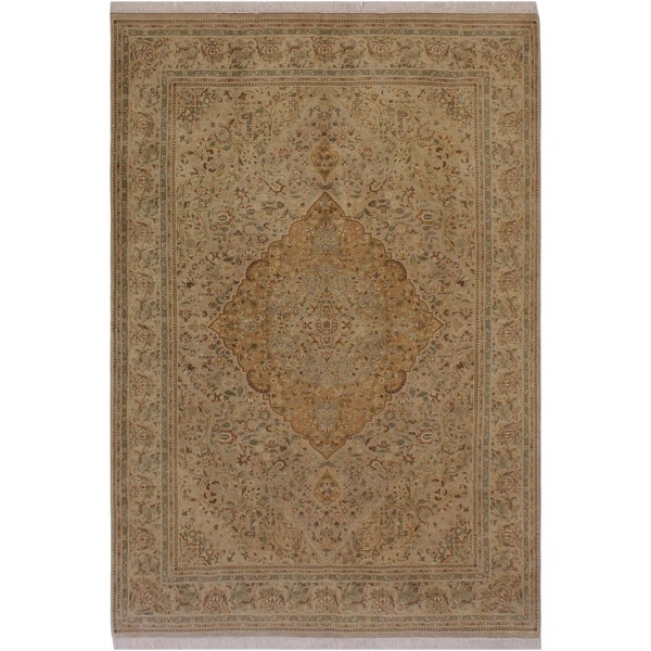 "Sparow Pak-Persian Tegan Lt. Tan/Lt. Gray Wool Rug (5'9 x 9'3) - 5'9"" x 9'3"""