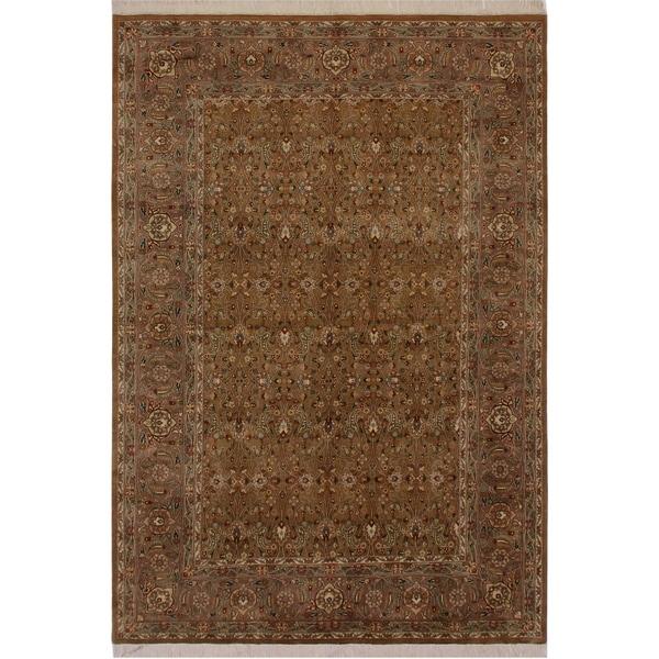 "Pak-Persian Skye Gold/Lt. Brown Wool Rug (6'0 x 9'0) - 6'0"" x 9'0"""