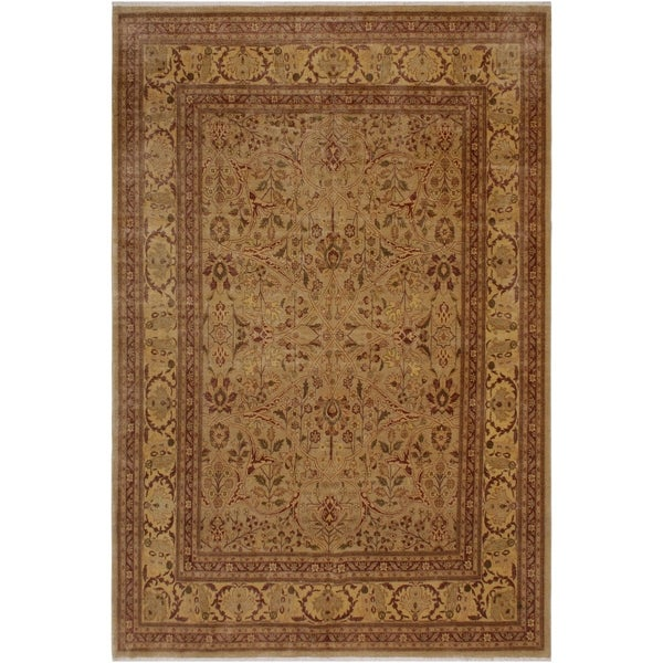 Macie Light Gold/Light Brown Wool Turkish Istanbul Area Rug - 8'7 x 11'10