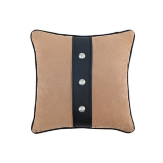 Veratex Yuma 18 x 18 Button Square Throw Pillow
