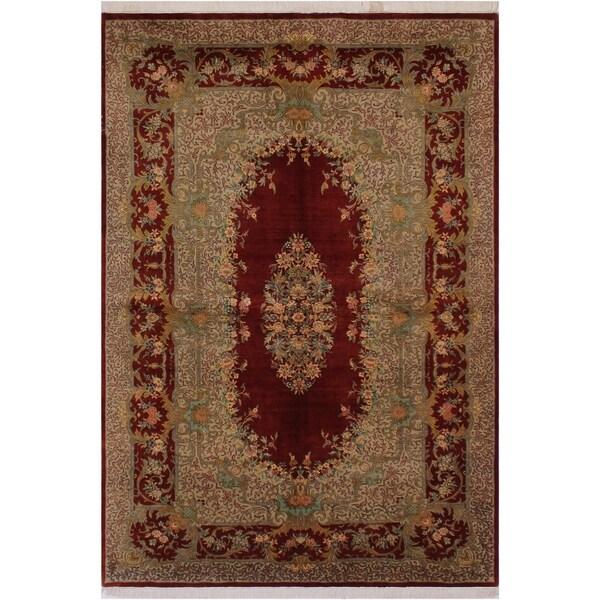 "Abusson Pak-Persian Afton Red/Tan Wool Rug (6'2 x 9'7) - 6'2"" x 9'7"""