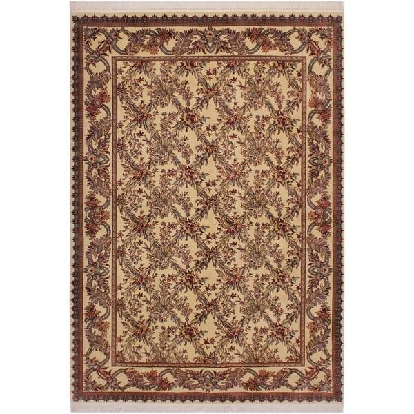 """Basan Pak-Persian Dung Ivory/Red Wool Rug (6'0 x 9'3) - 6'0"""" x 9'3"""""""