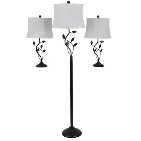 Metal Organic Leaf Lamp Set (Set of 3)