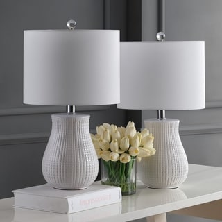 "Link to Safavieh Lighting 21"" Dayton LED Table Lamp (Set of 2) - 12""x12""x21"" Similar Items in Lamp Sets"