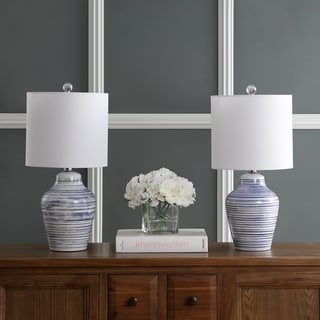 """Link to Safavieh Lighting 21"""" Maxton LED Table Lamp (Set of 2) - 10""""x10""""x21"""" Similar Items in Lamp Sets"""