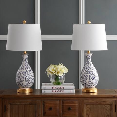 """Safavieh Lighting 28-inch Avi LED Table Lamp (Set of 2) - 14""""x14""""x27.5"""""""