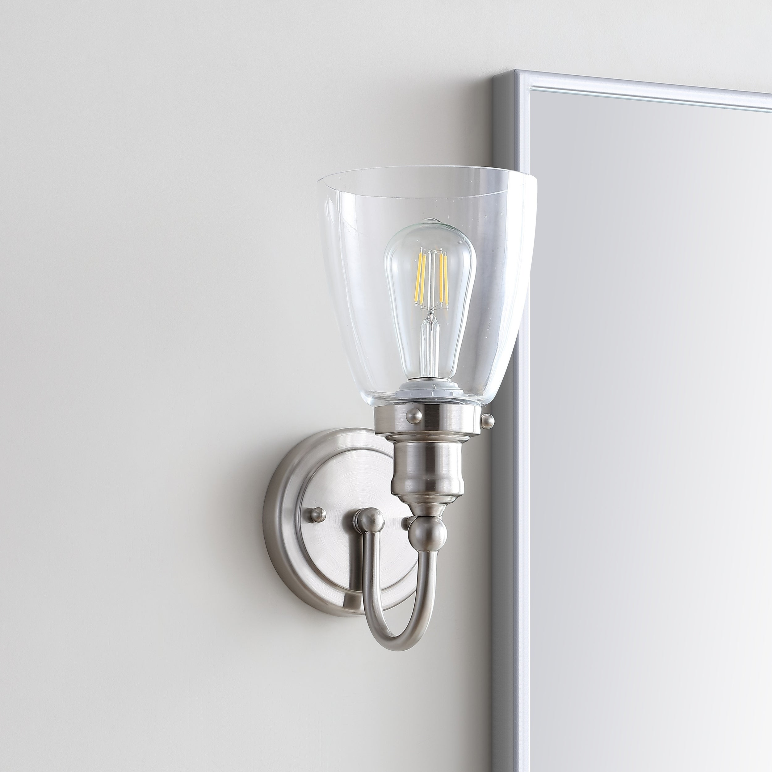 Image of: Shop Safavieh Lighting Darren Led Bathroom Sconce 5 3 X6 8 X11 8 On Sale Overstock 28165077