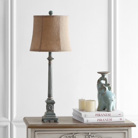 """Safavieh Lighting 32-inch Collin Antiqued Traditional LED Table Lamp - 12""""x12""""x31.5"""""""