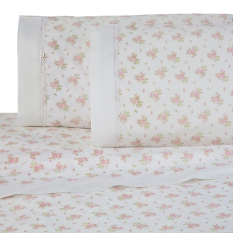 Martex Rose Garden Pink Lace Sheet Set