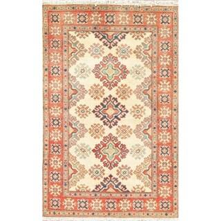 "Southwestern Kazak Pakistan Oriental Hand Knotted Wool Area Rug - 4'0"" x 2'7"""