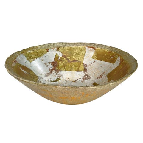 Olivier Decorative Bowl in Distressed Gold by Lucas McKearn