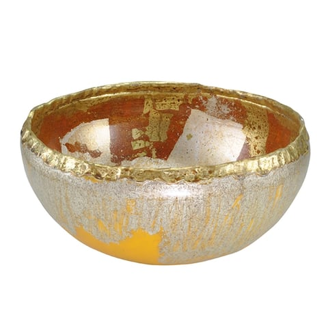Tricou Decoratvie Bowl in Distressed Gold by Lucas McKearn