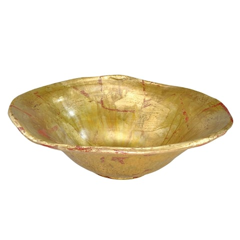 Beauvoir Decorative Bowl in Distressed Gold by Lucas McKearn