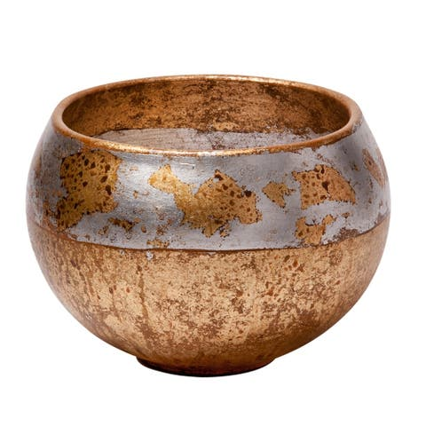 Addie Bowl Distressed Gold Home Style by Lucas McKearn