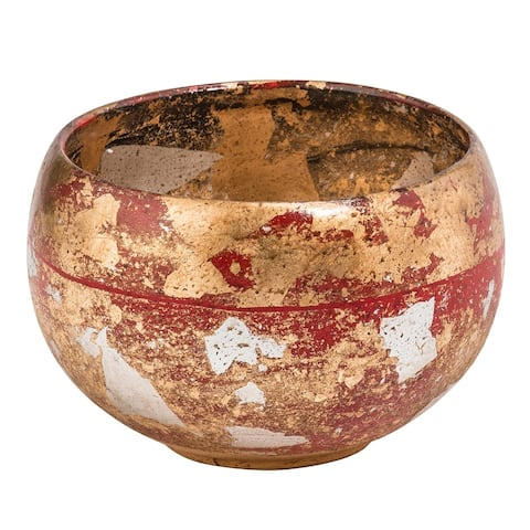 Vermillion Bowl by Lucas McKearn Distressed Gold
