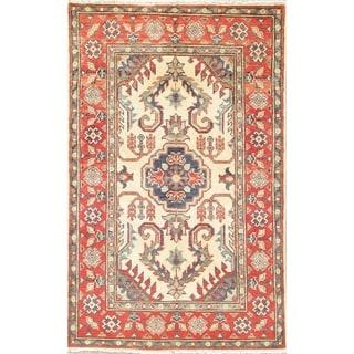 "Hand Knotted Kazak Southwestern Pakistan Oriental Wool Area Rug - 4'3"" x 2'8"""