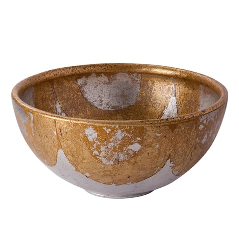 Belle chase Decorative Bowl in Distressed Gold