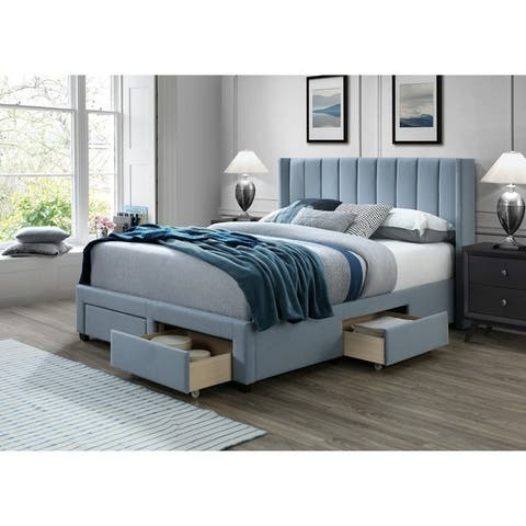 Copper Grove Endgordany Storage Bed with Panel Headboard Size - Queen