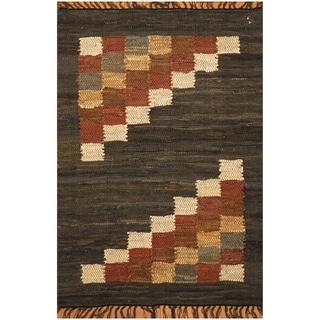 Handmade One-of-a-Kind Wool Kilim (India) - 2'2 x 3'