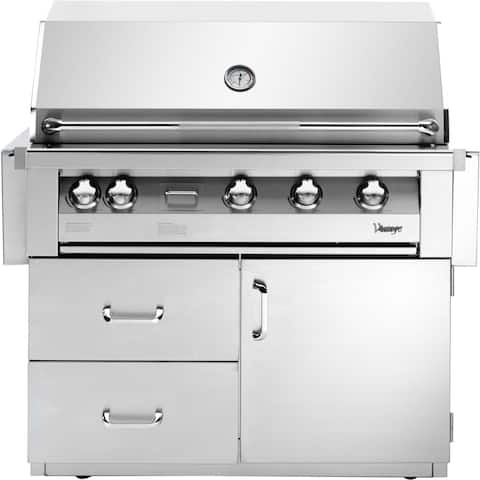 42-In. Built-In Natural Gas Grill in Stainless with Deluxe Cart