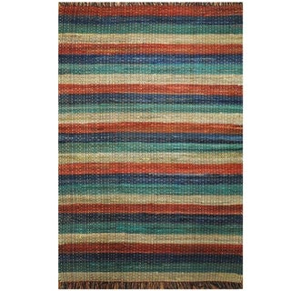 Handmade One-of-a-Kind Wool Kilim (India) - 4' x 6'