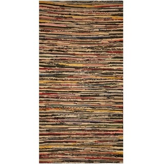 Handmade One-of-a-Kind Wool Kilim (India) - 2'4 x 4'7