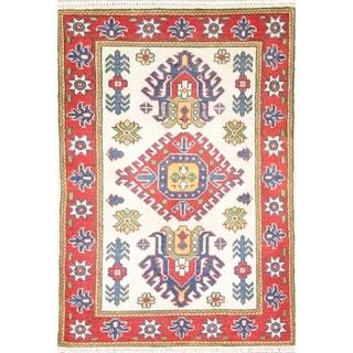 "Oriental Kazak Pakistan Southwestern Hand Knotted Wool Area Rug - 3'10"" x 2'9"""