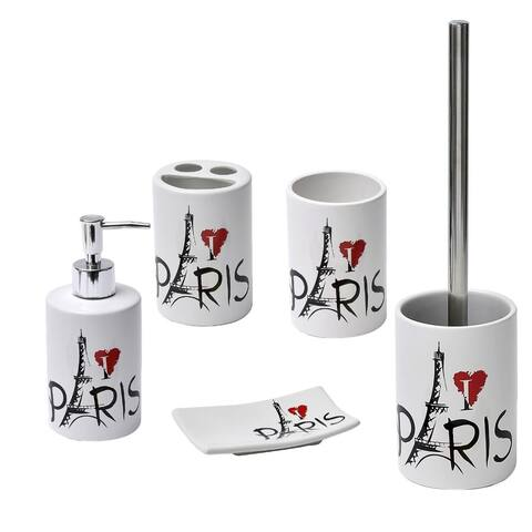 Parisienne Collection Printed Trash Can 4.5-liters/1.2-Gal