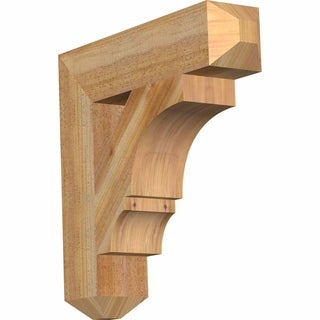 Balboa Craftsman Rough Sawn Bracket, Western Red Cedar
