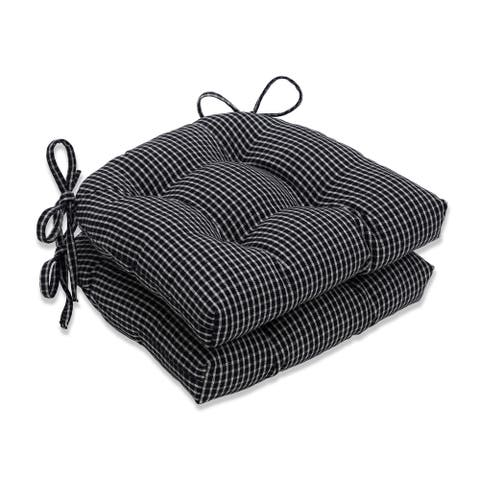 Pillow Perfect Roe Licorice Reversible Chair Pad (Set of 2)