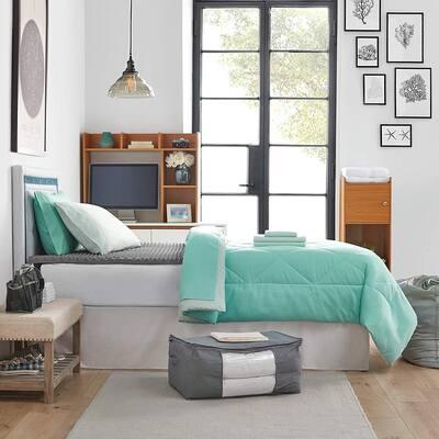 Porch & Den Hargis Yucca/Hint of Mint Color Twin XL College Bedroom Set