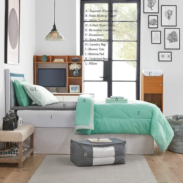 Incredible Shop College Bedding Pack Twin Xl Yucca Hint Of Mint Download Free Architecture Designs Scobabritishbridgeorg
