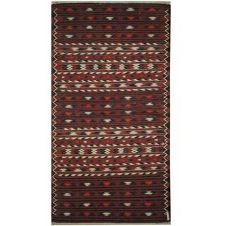 Handmade One-of-a-Kind Wool Kilim (Afghanistan) - 3'6 x 6'9