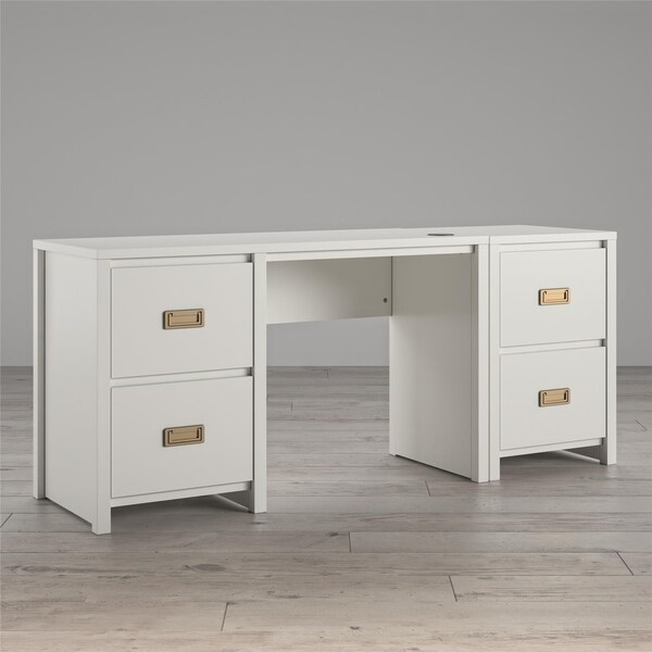 Little Seeds Monarch Hill Haven Single Pedestal Desk & Nightstand